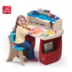 Step2 Biurko z Krzesełkiem Kącik plastyczny edukacyjny Delux