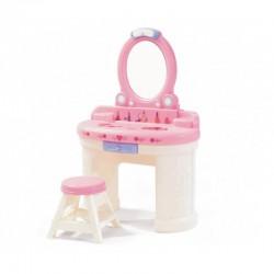 STEP2 Toaletka dla Dziewczynki z Lustrem z Oświetleniem Biało-różowa