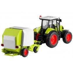 Traktor z Prasą Rolującą Do Belowania Gra 37,5 cm
