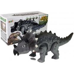 Dinozaur na Baterie Triceratops Szary
