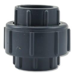 Dwuzłączka PCV KW/KW 25mm z uszczelką