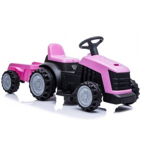 Traktor z Przyczepą na Akumulator TR1908T Różowy