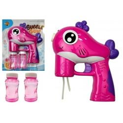 Pistolet na Bańki Mydlane Na Baterie Różowy